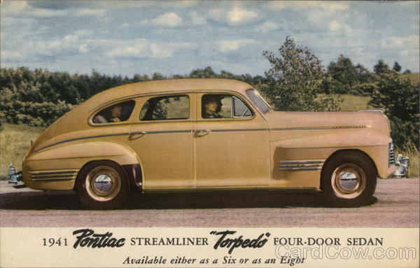 1941 Pontiac Streamliner Torpedo Four-Door Sedan Cars