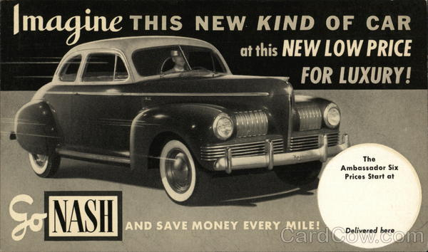 1941 Nash Ambassador Cars Advertising