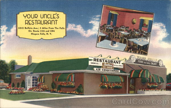 Your Uncle's Restaurant Niagara Falls New York Advertising