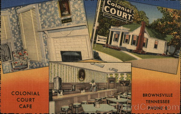 Colonial Court Brownsville Tennessee Advertising