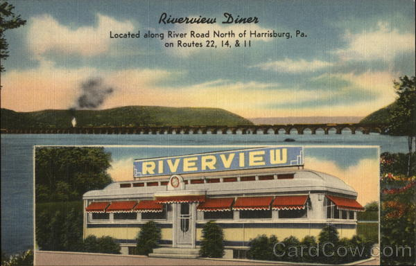 Riverview Diner Harrisburg Pennsylvania Advertising