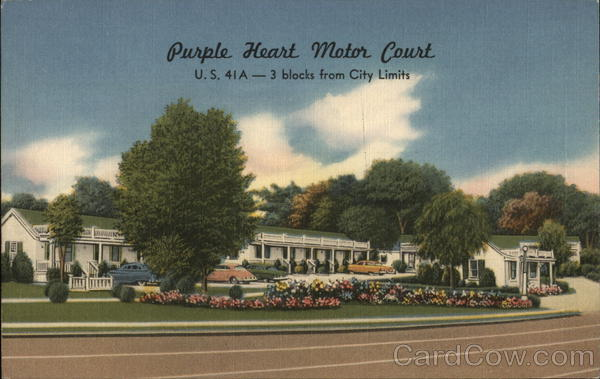 Purple Heart Motor Court Nashville Tennessee Advertising