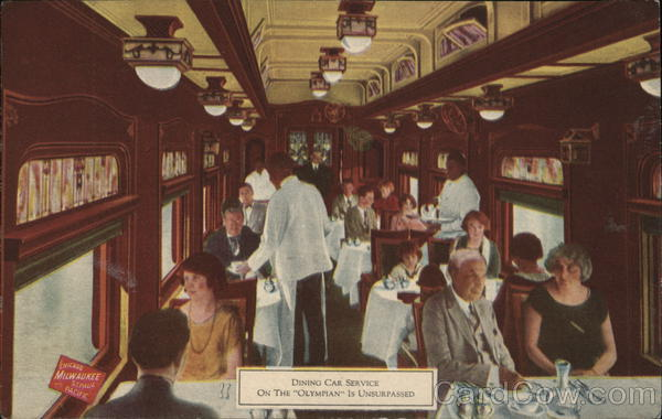 The Milwaukee Road, Dining Car Service Trains, Railroad