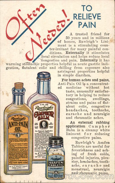 Rawleigh's Liniment, A Man's Medicine Advertising