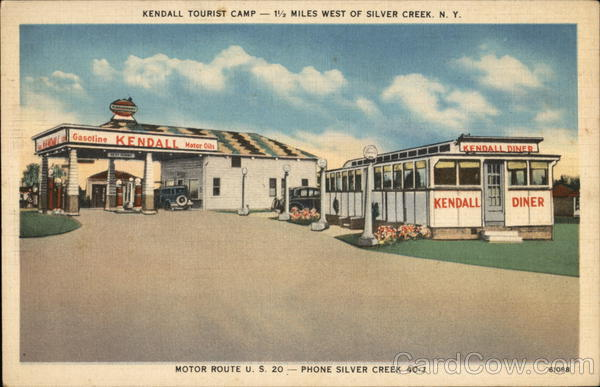 Kendall Tourist Camp Silver Creek New York Advertising