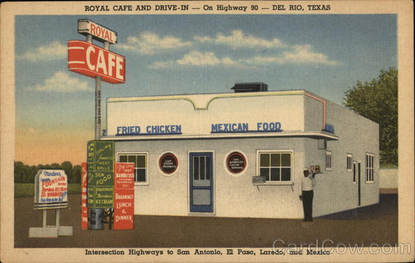 Royal Cafe and Drive-In Del Rio Texas Advertising