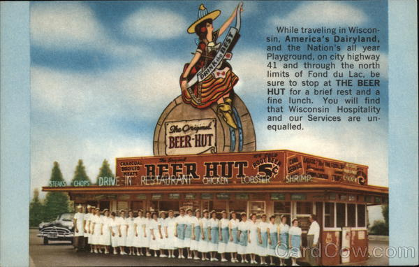 Fond Du Lac Wi >> The Beer Hut Fond du Lac, WI Postcard