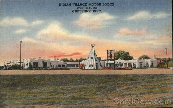 Indian Village Motor Lodge Cheyenne Wyoming Advertising