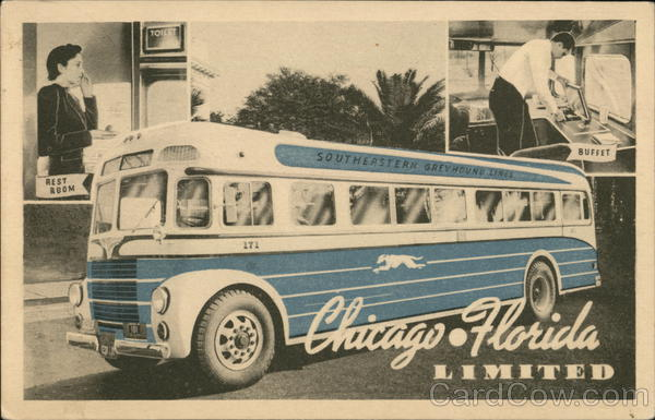 Greyhound Chicago-Florida Limited United States Advertising