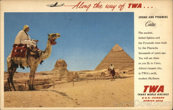 Sphinx and Pyramids Cairo Egypt Africa Advertising