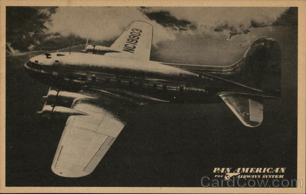 Pan American Airways B-307 Stratoclipper Airline Advertising