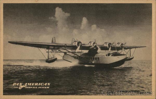 Pan American Airways S-42 Flying Clipper Airline Advertising