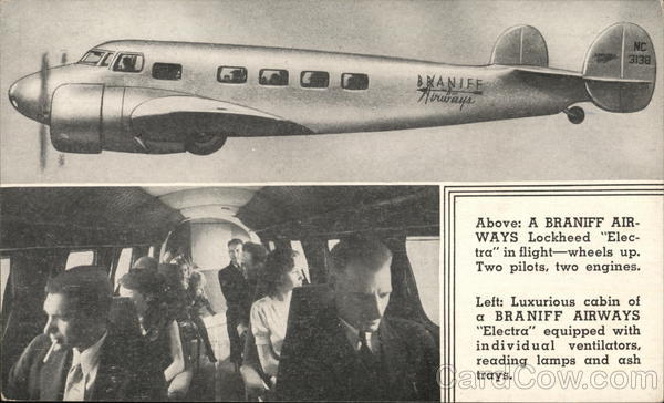 Braniff Airways Lockheed Electra, Braniff Airways Airline Advertising