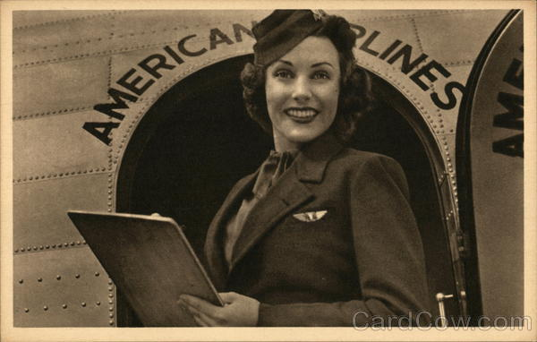 American Airlines - Flagship Fleet, Stewardess Airline Advertising