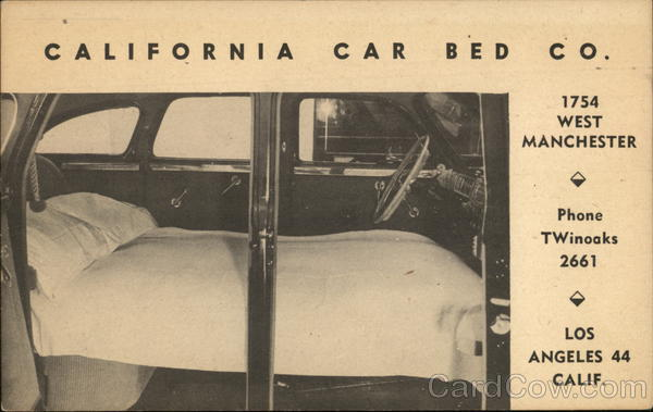 California Car Bed Co. Los Angeles Advertising Cars