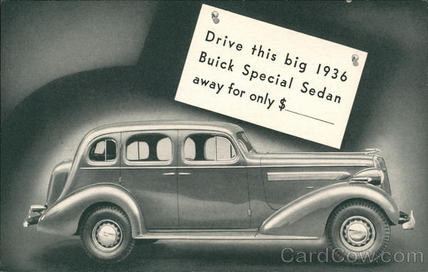 1936 Buick Special 4-Door Sedan Cars Advertising