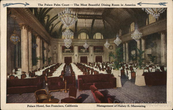 Palace Hotel - The Palace Palm Court San Francisco California