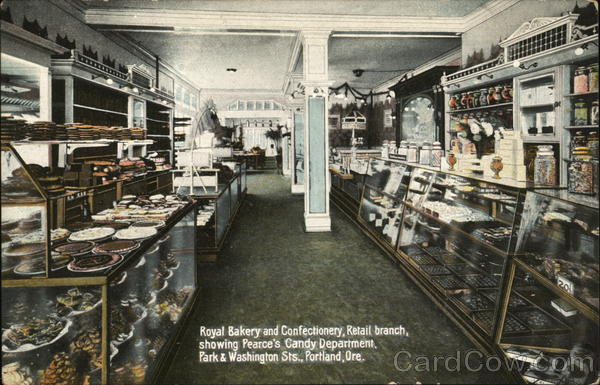 Royal Bakery and Confectionery showing Pearce's Candy Department Portland Oregon