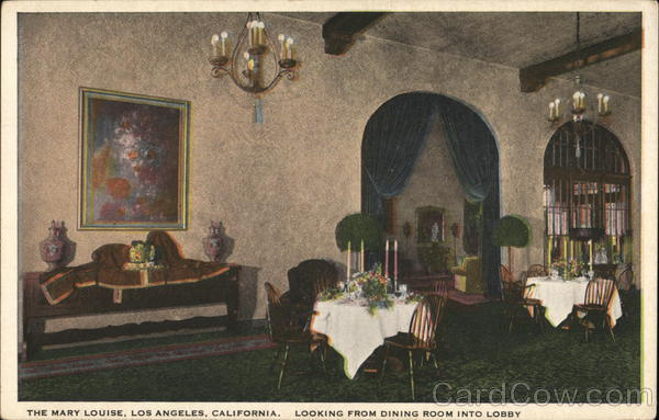 The Mary Louise - Looking from Dining Room into Lobby Los Angeles California