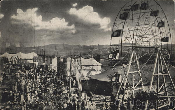 View of State Fair Midway New York Advertising