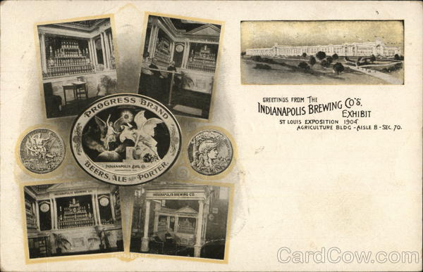 Indianapolis Brewing Co. Exhibit 1904 St. Louis Worlds Fair