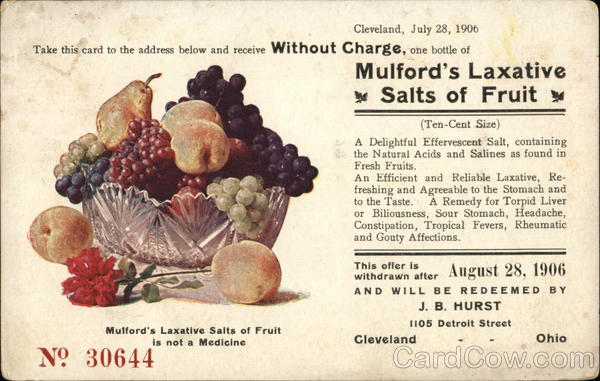 H. K. Mulford Company - Mulford's Laxative Salts of Fruit Philadelphia Pennsylvania