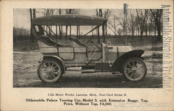 Oldsmobile Palace Touring Car, Model S Cars Advertising