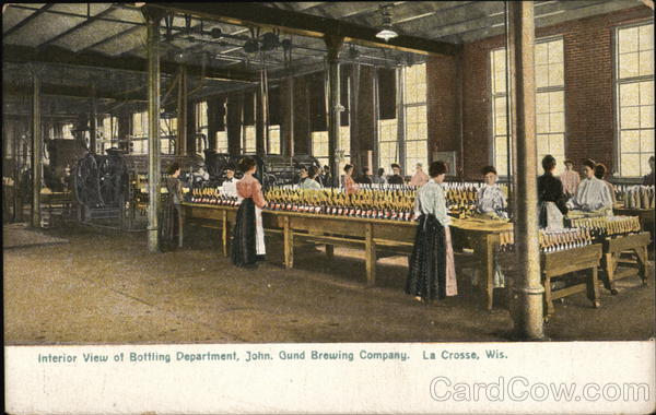 Gund Brewing Company - Bottling Department La Crosse Wisconsin