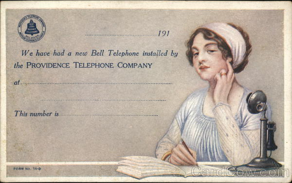 Providence Telephone Company Telephones Advertising