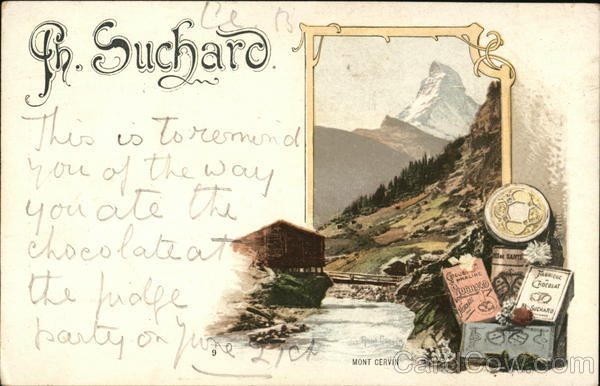 Th. Suchard Chocolates Switzerland Advertising