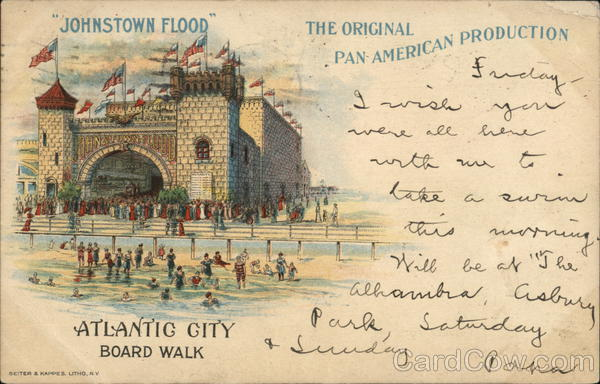 Johnstown Flood, Boardwalk Atlantic City New Jersey
