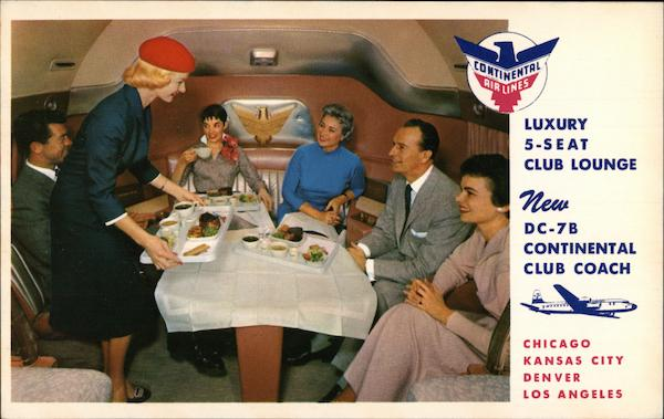 Continental Airliens Luxury 5-Seat Club Lounge DC-7B