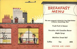 United Air Lines - Breakfast Menu