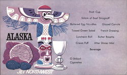 Northwest Orient Airlines - Menu Postcard