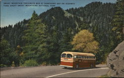 Smoky Mountain Trailways Bus at Newfound Gap