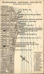 Boardwalk National Exhibits Map, Atlantic City Exhibition, General Motors Corporation