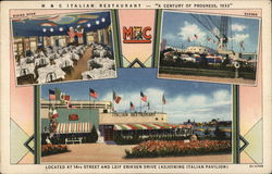 M & C Italian Restaurant - THe Emm-An-Cee Co., Chicago Postcard