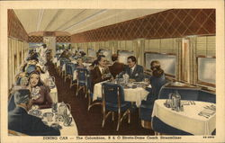 Dining Car - The Collumbian, B. & O. Strata-Dome Coach Streamliner