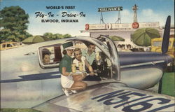 Fly-In Drive-in Postcard