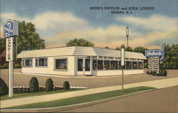 Huhn's Drive-In and Soda Lounge Postcard