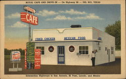 Royal Cafe and Drive-In Del Rio, TX Postcard