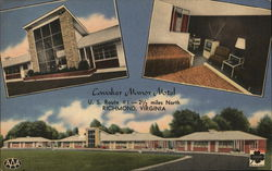 Motel Cavalier Manor Postcard