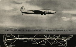 "United Air Lines ""3-Mile-a-Minute"" Multi-Motored Boeing"