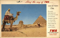 Sphinx and Pyramids Postcard