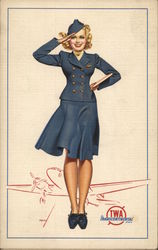 TWA Transcontinental Stewardess - At Your Command