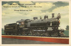 World's Fastest Locomotive - Pennsylvania Railroad's No. 7002 127.1 Miles an Hour Postcard
