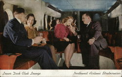 Lower Deck Club Lounge - Northwest Airlines Stratocruiser