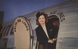 "Delta Air Lines - ""Welcome Aboard"" Stewardess"