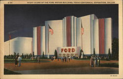 Night Scene of the Ford Motor Building, Texas Centennial Exposition, Dallas