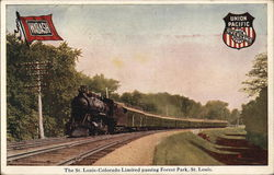 The St. Louis-Colorado Limited passing Forest Park, St. Louis